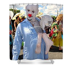 Shower Curtain featuring the photograph The Clown by Ed Weidman