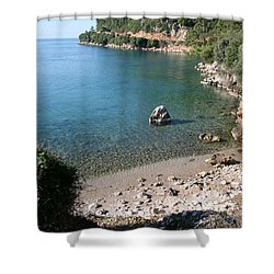 Shower Curtain featuring the photograph The Coast To Oren  by Tracey Harrington-Simpson