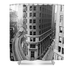 The Cocoa Exchange Building  Shower Curtain by Underwood Archives