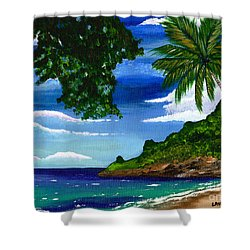 The Coconut Tree Shower Curtain