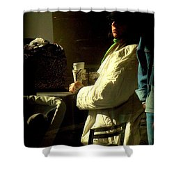 The Coffee Drinker Shower Curtain
