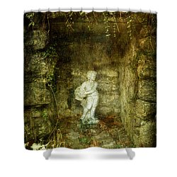 The Cold Flower Boy Shower Curtain
