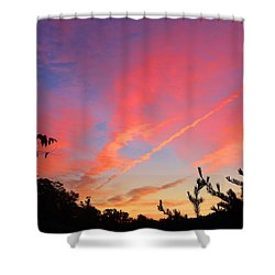 Shower Curtain featuring the photograph The Color Gets Good by Kathryn Meyer