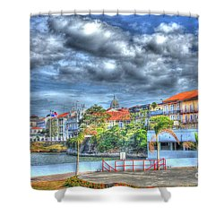 The Colors Of Casco Viejo Shower Curtain by Bob Hislop