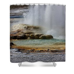 The Colors Of Clepsydra Shower Curtain