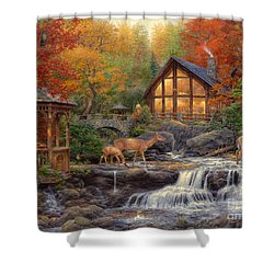 The Colors Of Life Shower Curtain by Chuck Pinson