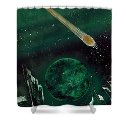 Shower Curtain featuring the painting The Comet by Jason Girard
