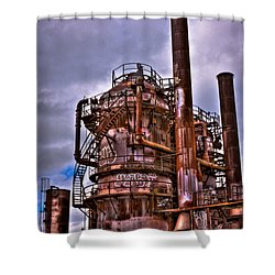 The Compressor Building At Gasworks Park - Seattle Washington Shower Curtain by David Patterson