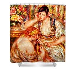 The Concert Shower Curtain by Pierre Auguste Renoir