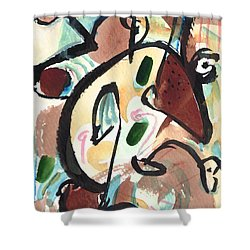 Shower Curtain featuring the painting The Conversation 2 by Stephen Lucas