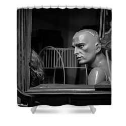 The Conversation Shower Curtain by Bob Orsillo