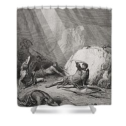 The Conversion Of St. Paul Shower Curtain by Gustave Dore