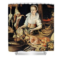 The Cook Shower Curtain by Pieter Cornelisz van Rijck