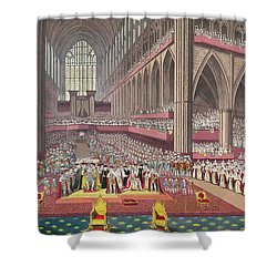 The Coronation Of King William Iv And Queen Adelaide, 1831 Colour Litho Shower Curtain by English School