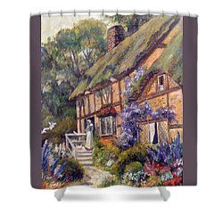 The Cottage Shower Curtain by Donna Tucker