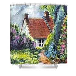 The Cottage Garden Path Shower Curtain by Carol Wisniewski