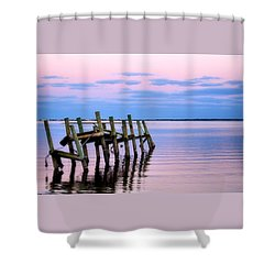 The Cove Dock Shower Curtain by Brian Hughes