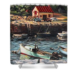 The Cove Shower Curtain by Eileen Patten Oliver