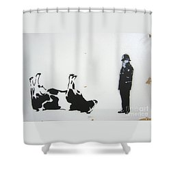 The Cow Shower Curtain by Bela Manson