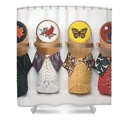 Four Seasons Cradleboards Shower Curtain