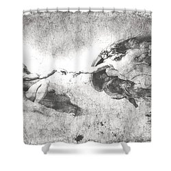 The Creation Of Adam Shower Curtain by Stefano Senise