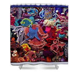 The Crochet Coral Reef Shower Curtain