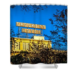 The Crockett Hotel Shower Curtain
