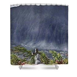 The Cross Shower Curtain by Douglas Barnard