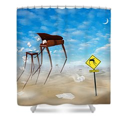 The Crossing Shower Curtain by Mike McGlothlen