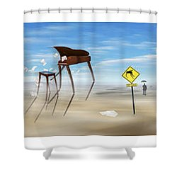The Crossing Panorama Shower Curtain by Mike McGlothlen