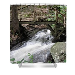 Shower Curtain featuring the photograph The Crossing by Richard Reeve