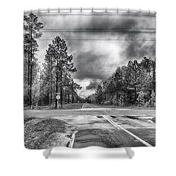 The Crossroads Shower Curtain by Howard Salmon