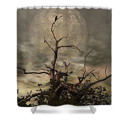 The Crow Tree Shower Curtain