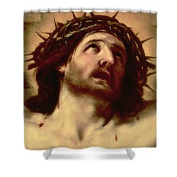 The Crown Of Thorns Shower Curtain by Guido Reni