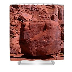 Shower Curtain featuring the photograph The Cube by Fortunate Findings Shirley Dickerson