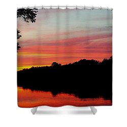 The Cumberland At Sunset Shower Curtain