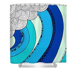 The Curl Shower Curtain by Susan Claire