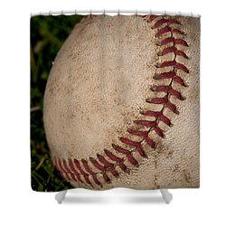 The Curveball Shower Curtain by David Patterson