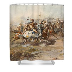 The Custer Fight  Shower Curtain by War Is Hell Store