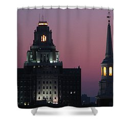 Shower Curtain featuring the photograph The Customs Building And Christ Church by Christopher Woods