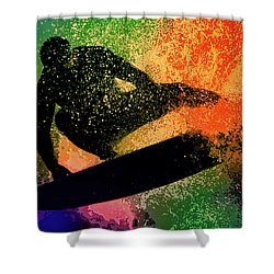 The Cutback Shower Curtain by Michael Pickett