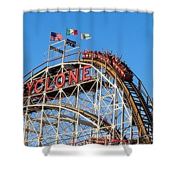 The Cyclone Shower Curtain by Ed Weidman