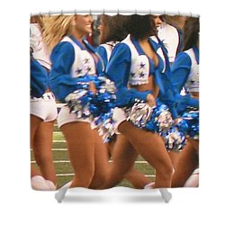 The Dallas Cowboys Cheerleaders Shower Curtain by Donna Wilson
