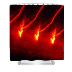 The Dance Of Gold Shower Curtain by James Welch