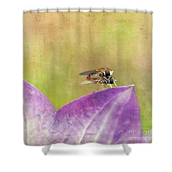 The Dance Of The Hoverfly Shower Curtain