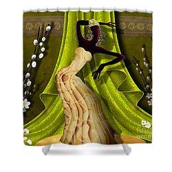 The Dancer V3 Shower Curtain by Bedros Awak