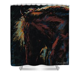 The Dark Horse Shower Curtain
