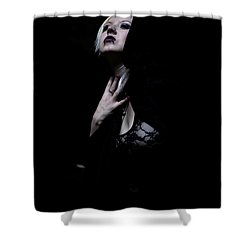 Shower Curtain featuring the photograph The Dark Witch by Mez