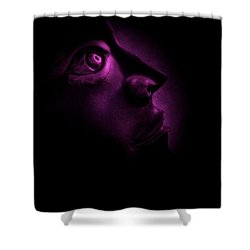 The Darkest Hour - Magenta Shower Curtain by David Dehner