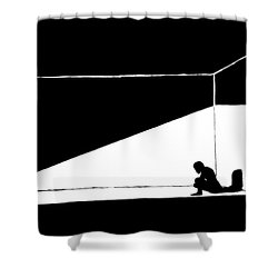 The Darkned Room Shower Curtain by Justin Moore